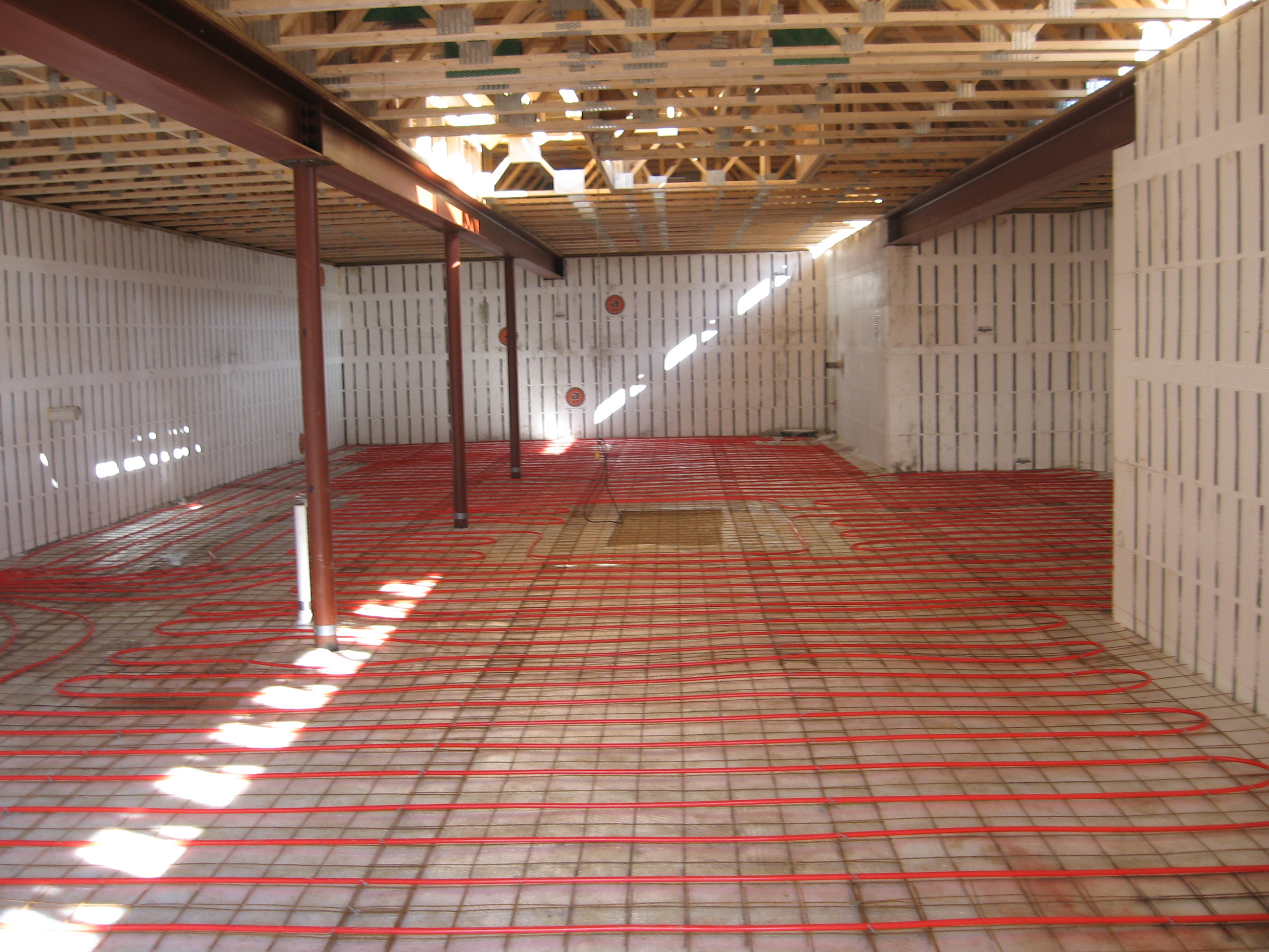 radiant heat flooring basement images